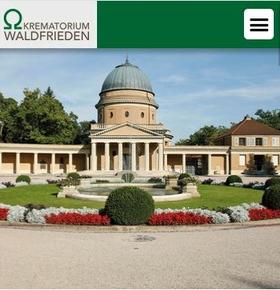 Neue Website für das Krematorium Waldfrieden