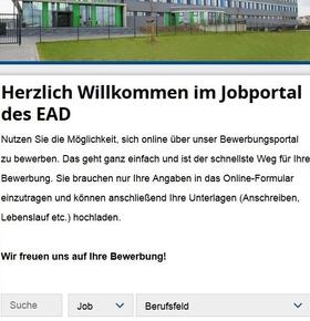 Neues Online-Bewerbungsverfahren bei der Wissenschaftsstadt Darmstadt und beim EAD