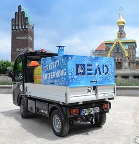 EAD nimmt neues Elektro-Fahrzeug zur Graffitientfernung im Stadtgebiet in Betrieb