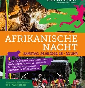 Afrikanische Nacht am 24. August 2019 von 18 bis 22 Uhr im Zoo Vivarium Darmstadt
